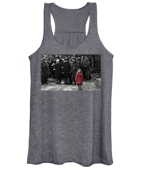 Girl With Red Coat Publicity Photo Schindlers List 1993 Women's Tank Top