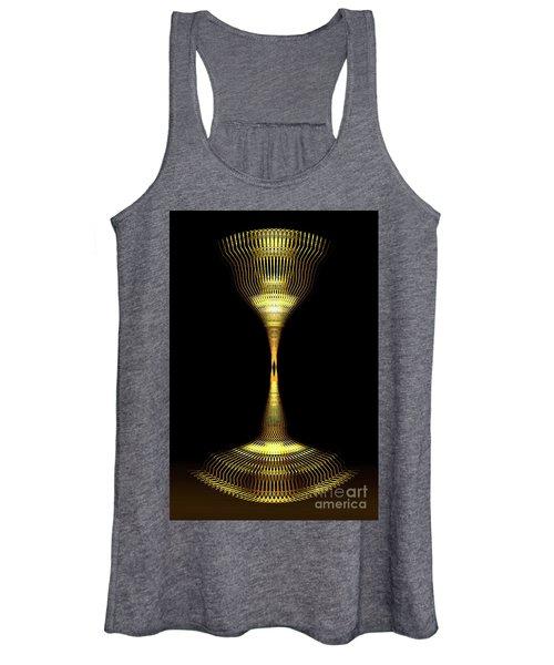 Glowing Brass Lamp Stand Women's Tank Top
