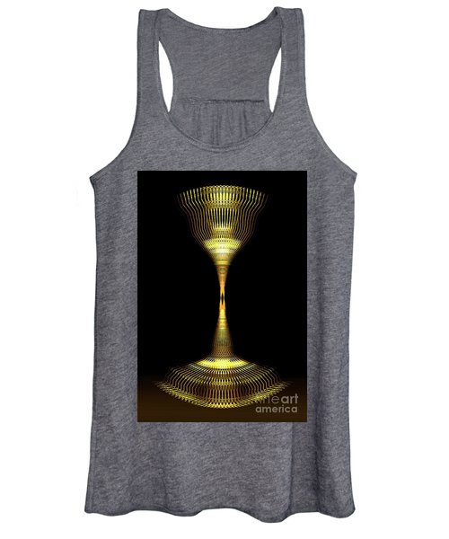 Glowing Brass Lamp Stand Women's Tank Top