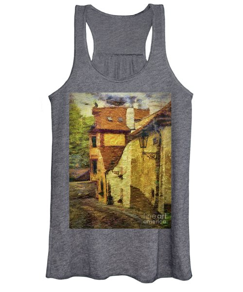 Going Downhill And Round The Bend Women's Tank Top