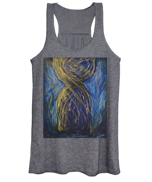 Gold And Blue Latte Stone Women's Tank Top
