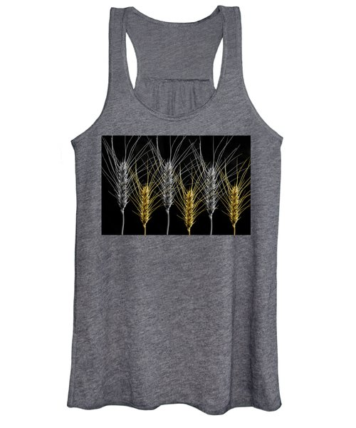 Gold And Silver Wheat Women's Tank Top