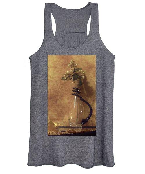 Gold Flower Vase Women's Tank Top