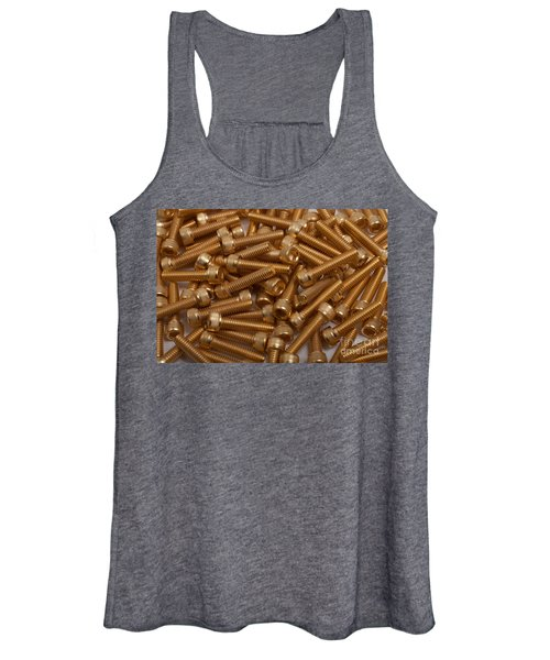 Gold Plated Screws Women's Tank Top