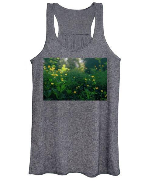 Golden Blooms Women's Tank Top