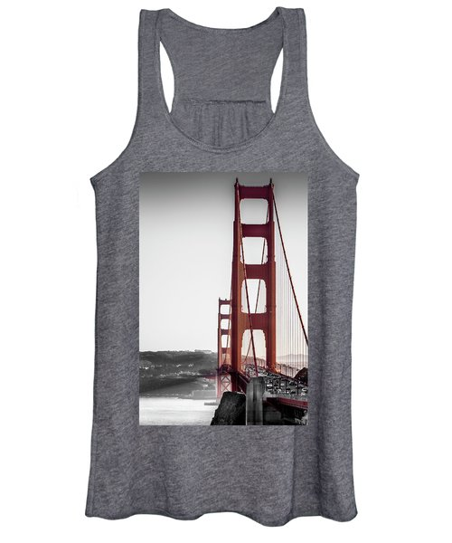 Golden Gate Black And Red Women's Tank Top