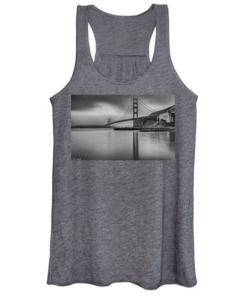 Golden Gate Black And White Women's Tank Top