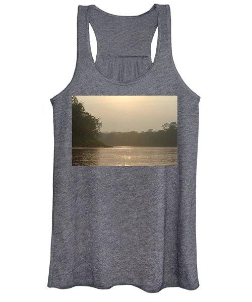 Golden Haze Covering The Amazon River Women's Tank Top