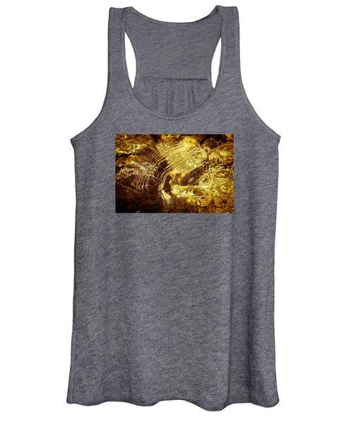 Golden Ripples Women's Tank Top