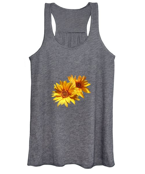 Golden Sunflowers Women's Tank Top