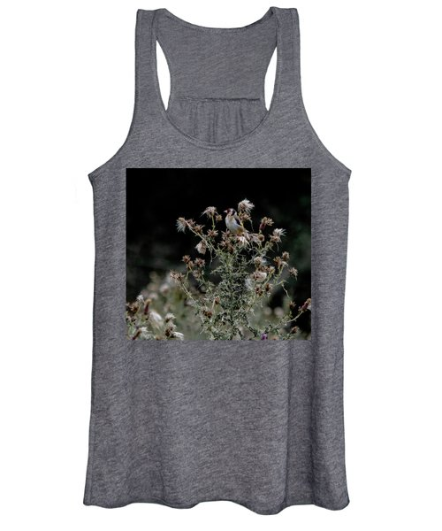 Goldfinch Sitting On A Thistle Women's Tank Top