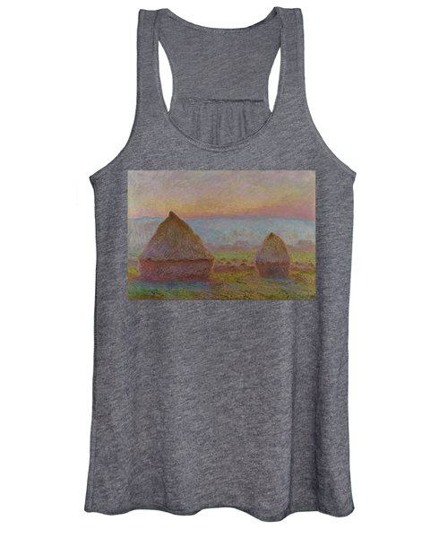 Grainstacks At Giverny The Evening Sun 1888 1889 Women's Tank Top
