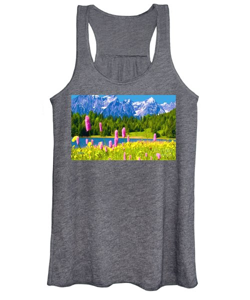Grand Teton Watercolor Women's Tank Top