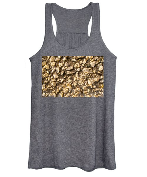 Gravel Stones On A Wall Women's Tank Top