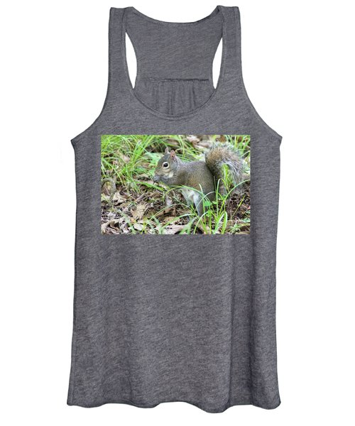 Gray Squirrel Eating Women's Tank Top
