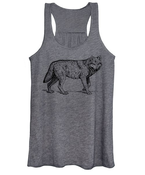 Gray Wolf Timber Wolf Western Wolf Women's Tank Top