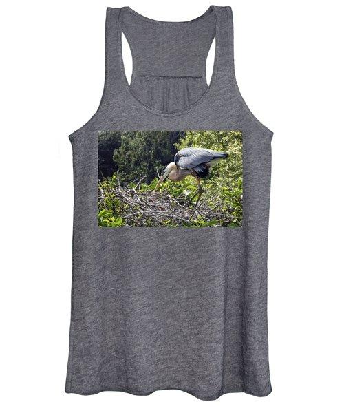 Great Blue Heron On Nest Women's Tank Top