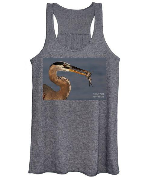 Great Blue Heron W/catfish Women's Tank Top
