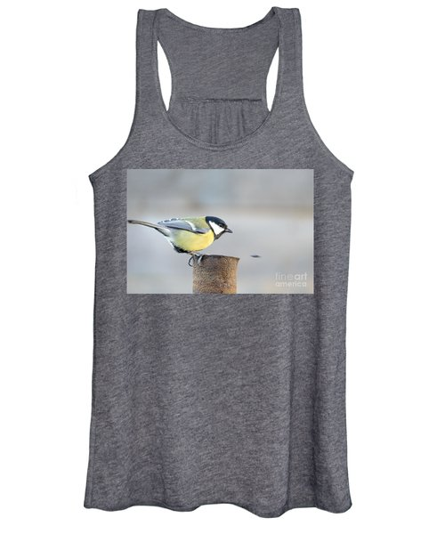 Great Tit On The Tube  Women's Tank Top