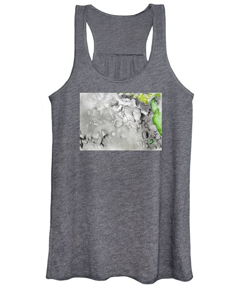 Green And Gray Stones Women's Tank Top