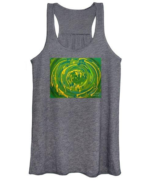 Green Forest Swirl Women's Tank Top