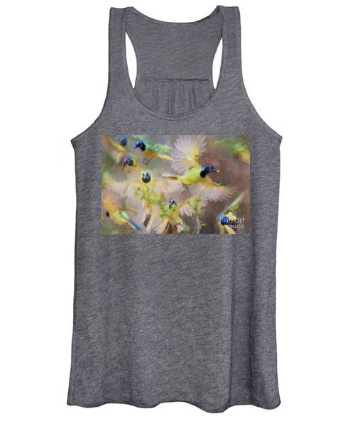 Green Jay Collage Women's Tank Top