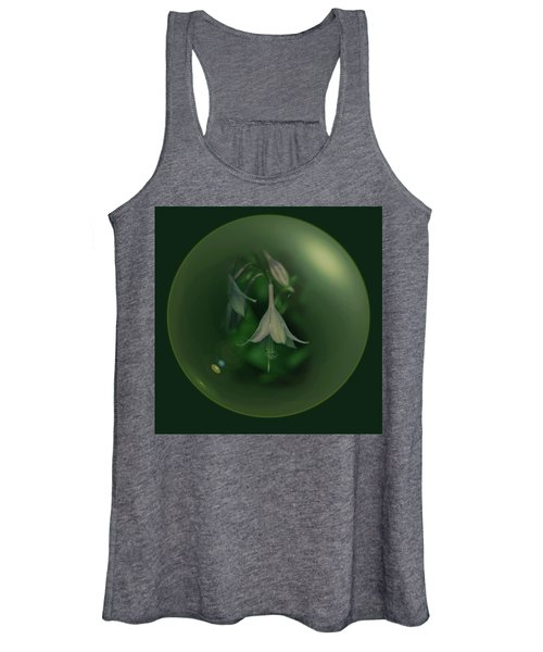 Green Orb Flower Women's Tank Top