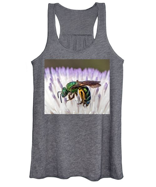 Green Orchid Bee Women's Tank Top