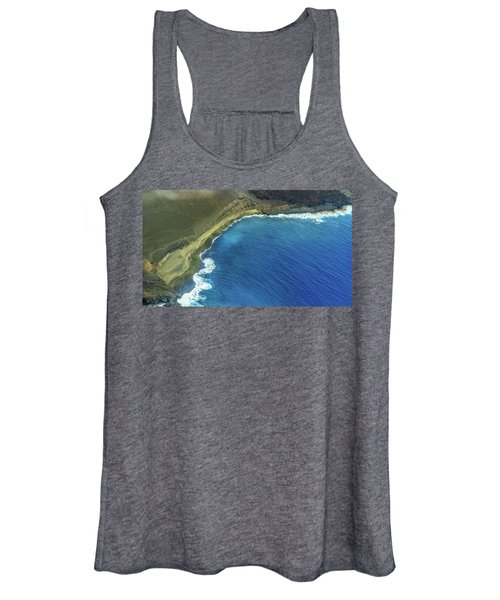 Green Sand Beach Aerial Women's Tank Top