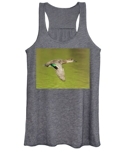 Green-winged Teal 6320-100217-2cr Women's Tank Top