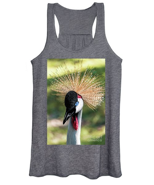 Grey Crowned Crane Gulf Shores Al 2041 Women's Tank Top