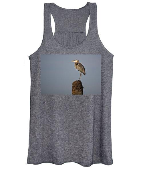 Grey Heron Women's Tank Top