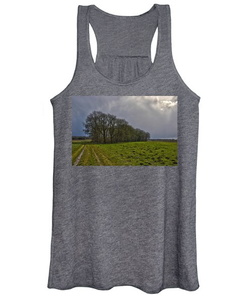 Group Of Trees Against A Dark Sky Women's Tank Top