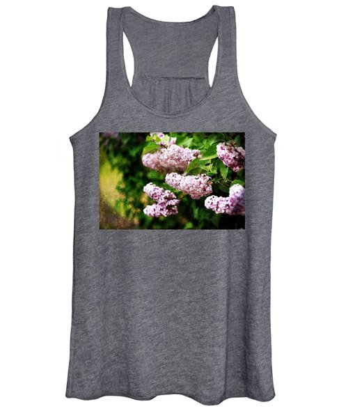 Women's Tank Top featuring the photograph Grunge Lilacs by Antonio Romero