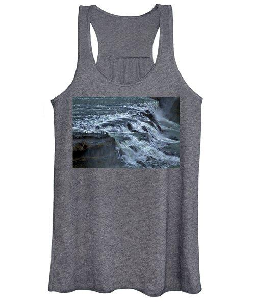 Gullfoss Waterfall #6 - Iceland Women's Tank Top