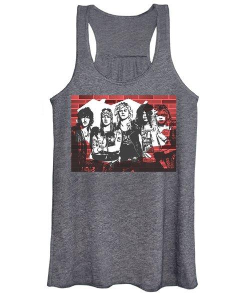 Guns N Roses Graffiti Tribute Women's Tank Top