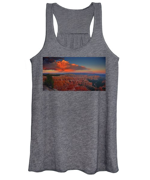 Harvest Moon Over Bryce National Park Women's Tank Top