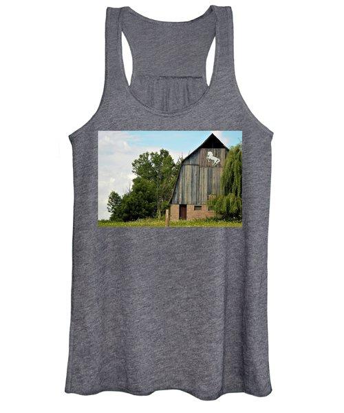 0017 - Hassler Lake Road Horse Barn Women's Tank Top