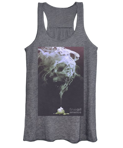 Women's Tank Top featuring the painting Haunted Smoke  by Tithi Luadthong