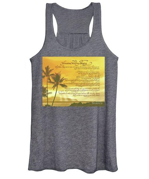Hawaiian Wedding Blessing-sunset Women's Tank Top
