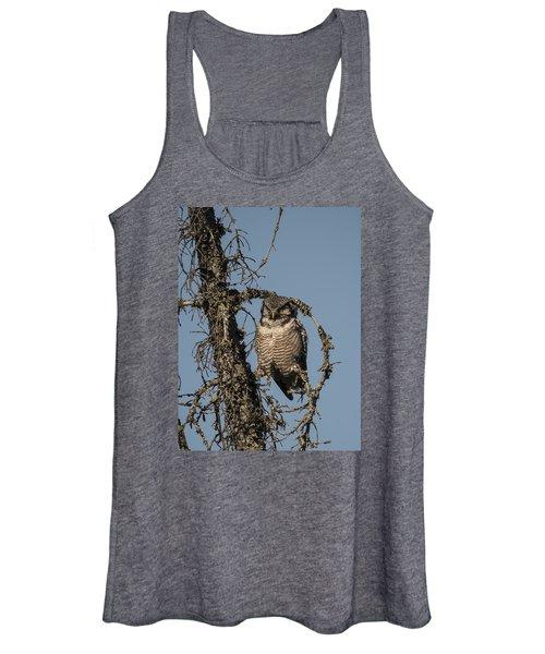 Hawk Owl Gaze Women's Tank Top