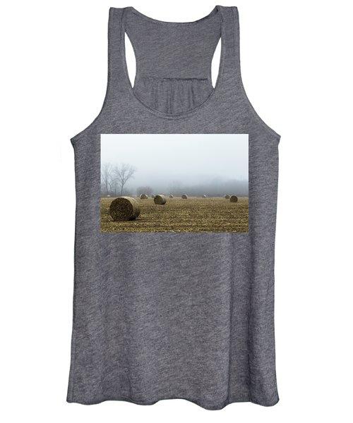 Hay Bales In A Field Women's Tank Top