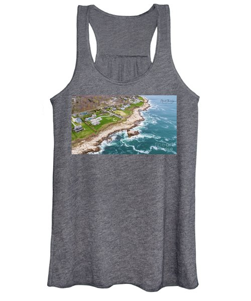 Hazard Rocks, Narragansett  Women's Tank Top