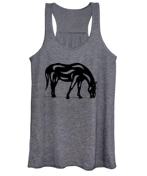 Hazel - Abstract Horse Women's Tank Top