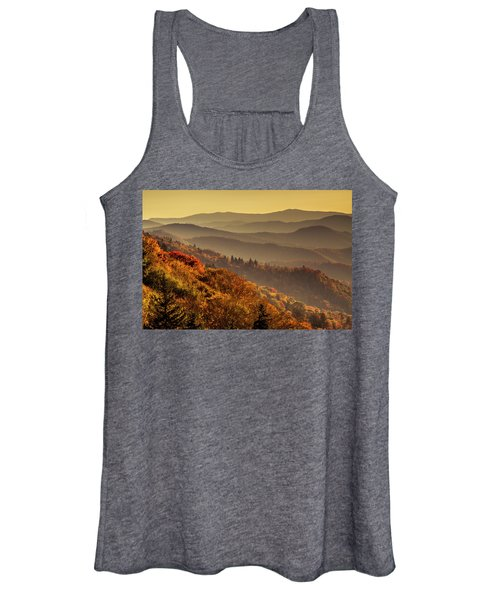 Hazy Sunny Layers In The Smoky Mountains Women's Tank Top
