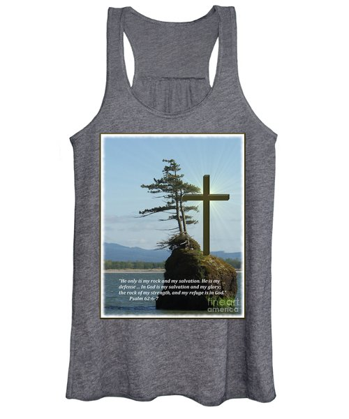 He Is My Rock And My Salvation Women's Tank Top