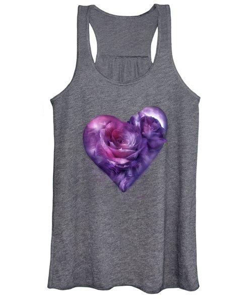 Heart Of A Rose - Burgundy Purple Women's Tank Top