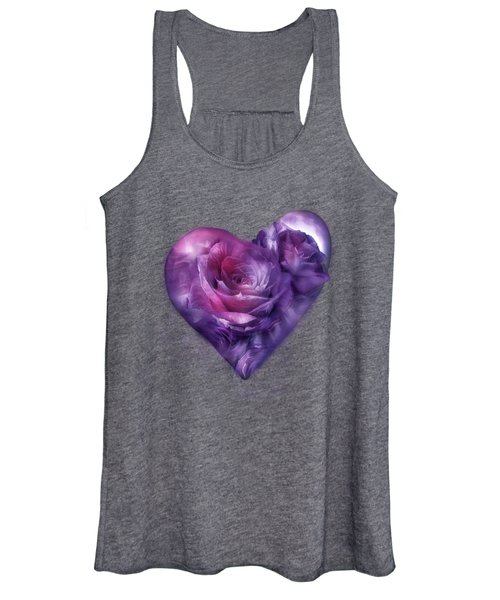 Heart Of A Rose - Burgundy Purple Women's Tank Top