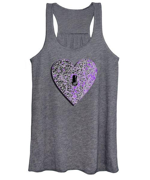 Heart Shaped Lock Purple .png Women's Tank Top