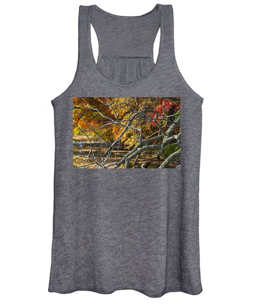 Highly Textured Branches Against Autumn Trees Women's Tank Top